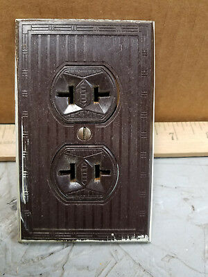Vintage Brown  Outlet and Cover Lines  Bakelite Art Deco