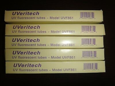 5 UVERITECH REPLACEMENT UV BULBS Fraud FIghter Counterfeit Detector UV16 POS15