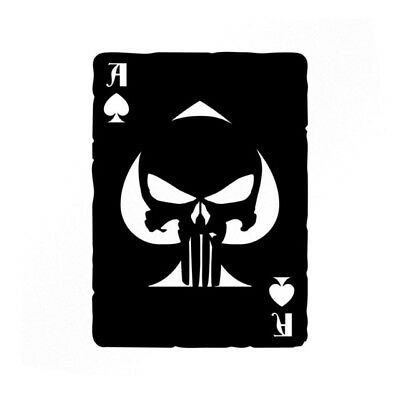 Punisher Ace Of Spades Old Playing Card Vinyl Decals - Car sticker skull marvel