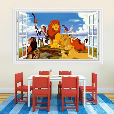3d lion king wall stickers decals decor kids room poster wallpaper