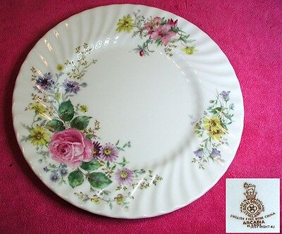 """Royal Doulton (Arcadia) 10 5/8"""" DINNER PLATE(s) Pat #H4802 Smooth Brown Mark"""