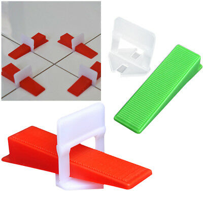 300400pcs Tile Flat Leveling System Floor Wall Spacers Clips Device