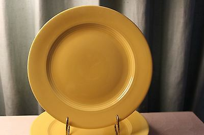 "Homer Laughlin Yellow Harlequin 9.5"" dinner Plate Fiesta color"