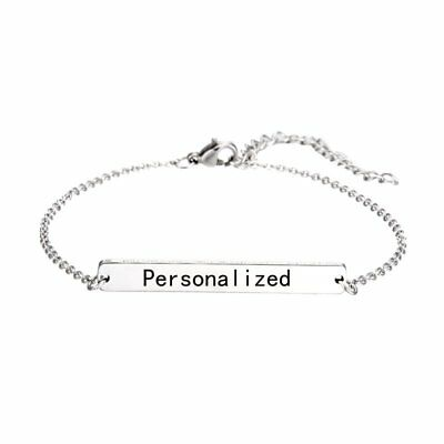 DIY Stainless Steel Personalized Custom Engraved Bracelet Chain Bangle Jewelry