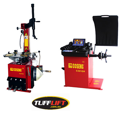 Tyre Changer with Swing Arm and Wheel Balancer COMBO C201GB + C301GN