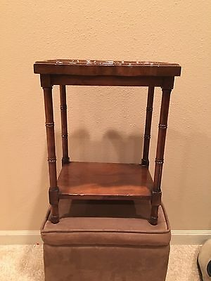 Vintage BRANDT French Country Style TOP End Key SIDE TABLE Scalloped Edge