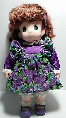 Precious Moments Doll Little Girl Wearing Flowered Frock
