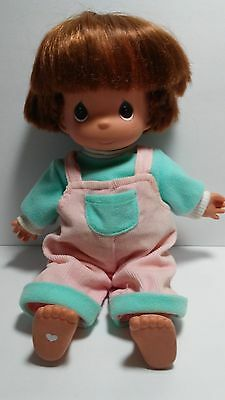 Precious Moments Doll Dressed In Overalls