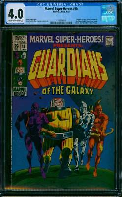 Marvel Super-Heroes # 18  1st app. Guardians of Galaxy !  CGC 4.0  scarce book !