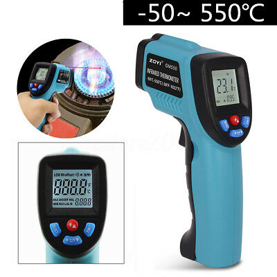 GM550 Temperature Gun Non-contact Infrared IR Laser LCD Digital Thermometer Temp