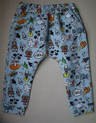 Fendi Baby Boys Blue Monster Space Print Sweatpants 24 Months