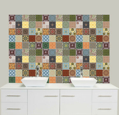 """6""""/4"""" Traditional Moroccan Tile Sticker Decal Transfer Kitchen & Bathroom NTP06"""