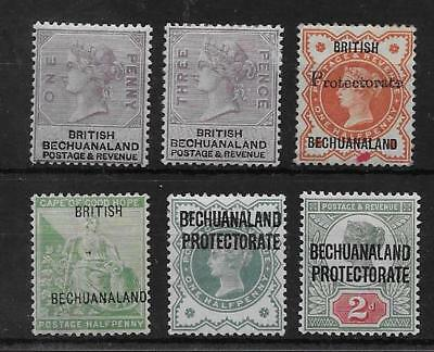 Bechuanaland  Sel.of Mint Q.v.  Sg 10, 12, 40, 56, 60 & 62   Mounted (Hinged)