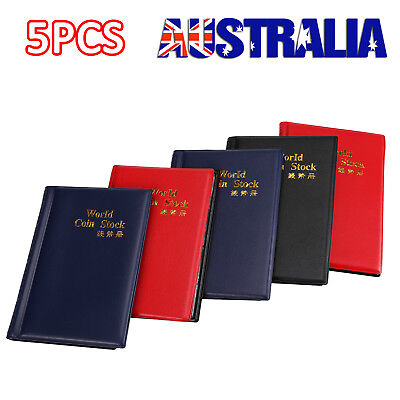 5P 120 Slots Coin Holder Album Money Penny Collecting Pocket Storage Folder Book