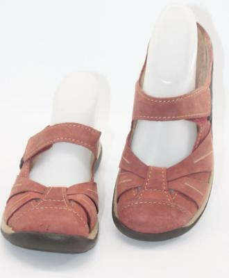 4179d64c6d8932 Romika Women s Gina Red Coral Suede Casual Clog Mule Mary Jane Sz 6   37  Shoes