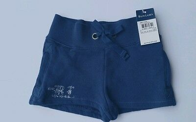 Ralph Lauren Young Girl's shorts Soft Jersey Blue Years 2 Years 2T NWT TODDLER