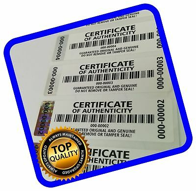250 pcs Certificate of Authenticity Labels Security Stickers with Hologram St...