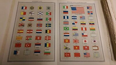 Flags of Countries: Map from Harmsworth Universal Atlas (c.1900)