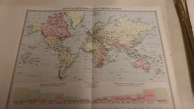 The British Empire Nos 3-4: Map from Harmsworth Universal Atlas (c.1900)