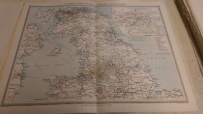 The North of England Nos 21-22: Map from Harmsworth Universal Atlas (c.1900)