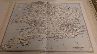 The South of England Nos 23-24: Map from Harmsworth Universal Atlas (c.1900)