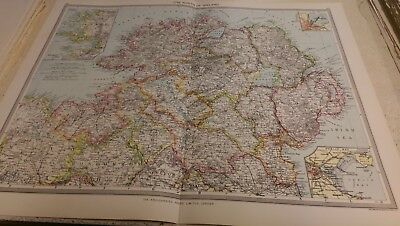 The North of Ireland Nos 39-40: Map from Harmsworth Universal Atlas (c.1900)