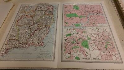 South-East England Nos 43-44: Map from Harmsworth Universal Atlas (c.1900)
