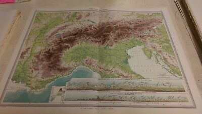 The Alps Nos 61-62: Map from Harmsworth Universal Atlas (c.1900)