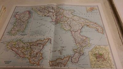 Southern Italy Nos 83-84: Map from Harmsworth Universal Atlas (c.1900)