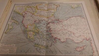 Balkan States and Asia Nos 85-86: Map from Harmsworth Universal Atlas (c.1900)