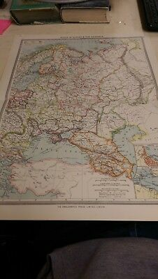 Russia in Europe Nos 95-96: Map from Harmsworth Universal Atlas (c.1900)