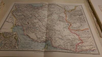 Persia Nos 111-112: Map from Harmsworth Universal Atlas (c.1900)