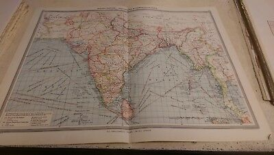 Indian Empire Nos 113-114: Map from Harmsworth Universal Atlas (c.1900)