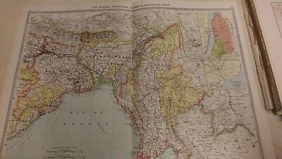 The Bengal Provinces Nos 117-118: Map from Harmsworth Universal Atlas (c.1900)