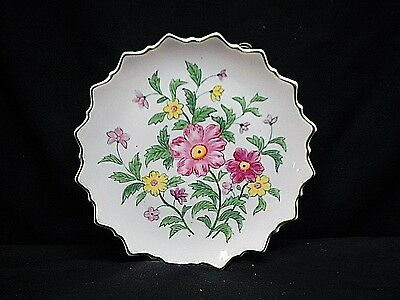 Old Vintage Andrea by Sadek 9396 Elegant Pink Yellow Floral Plate Wall Art Japan