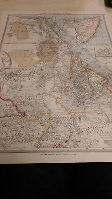 Egypt and the Sudan Nos 141-142: Map from Harmsworth Universal Atlas (c.1900)