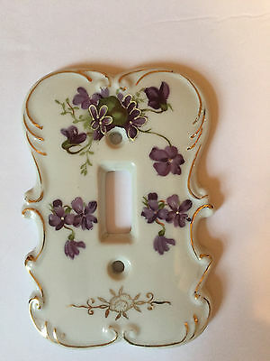 Porcelain Vintage Decorative Floral Hand Painted Light wall Plate Made in Japan