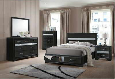 ELEGANCE STYLE 1PC Bed Queen Size Contemporary Bedroom ...