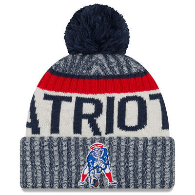 New Era New England Patriots 2017 Sideline On Field Beanie Knit Hat Cap Historic