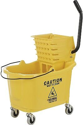 Home Hotel Business Office Cleaning Mop Bucket And Wringer Combo - Side Press