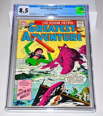 My Greatest Adventure 81 CGC 8.5 OW Pages 2nd Doom Patrol