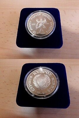 "1 Pound Zypern 1989 Proof Silber ""Small State Games""  im Etui"