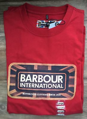BRAND NEW-Barbour International Pride Tee  Crimson T-Shirt -M-MSRP $49