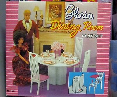 *NEW* Gloria Barbie Doll House Furniture Dining Room Play Set (94011)