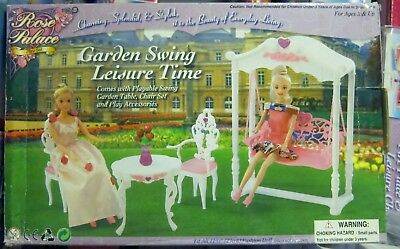Gloria,Barbie Size Doll  Furniture// Rose Palace Garden Swing Leisure Time 2619