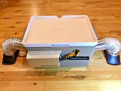 NEW Antminer Bitmain S7 S9 D3 L3 Noise Suppressor Sound Proofing W/ Accessories