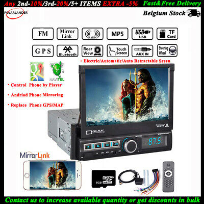 "7"" GPS Touch Screen Stereo DVD/MP3/FM/USB Bluetooth HD 1Din Autoradio MP5 Player"