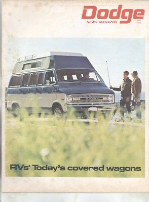 May 1970 Dodge News Factory Magazine Brochure Challenger Convertible RV wy9421