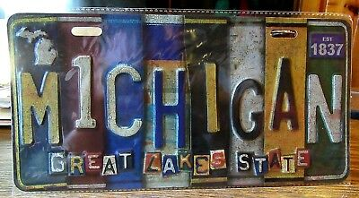 New Michigan Wall Art License Plate