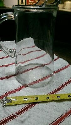 Vintage  Clear Glass  Pitcher